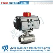 Q611F-气动二片式内螺纹球阀_专业球阀制造商_质量可靠